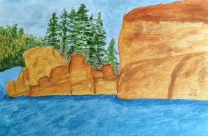 """08-07-15 """"rocky lake"""""""